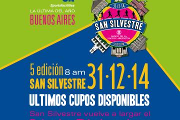 San Silvestre, ¡últimos cupos!