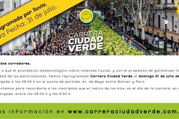 Carrera Ciudad Verde reprogramado al 31 de Julio