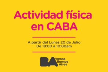 ⚠️ Actividad física en CABA